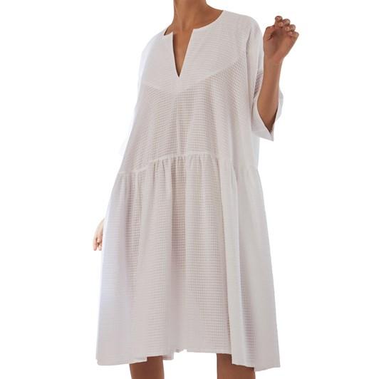 Kowtow Sketchbook Dress - White Sheer Check