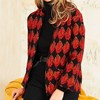 Adini Panama Knit Jacket - rust