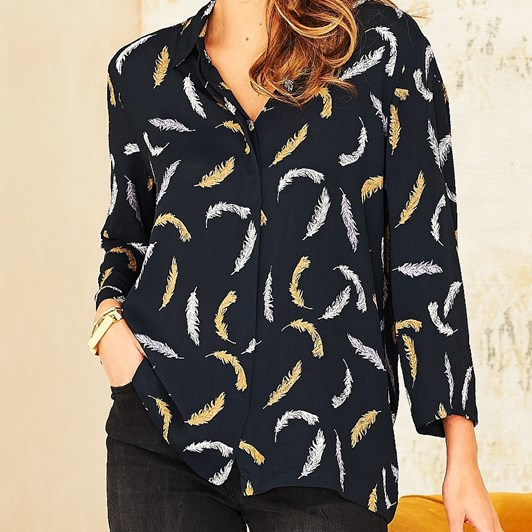 Adini Belle Feather Print Shirt