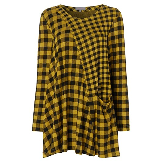 Sahara London Double Check Jersey Tunic