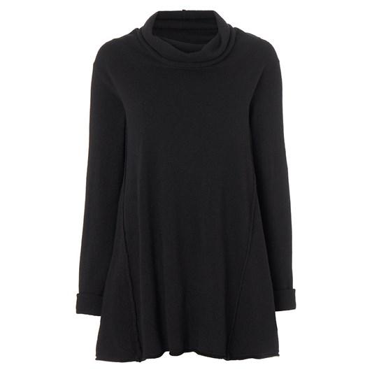 Sahara London Cowl Neck Flared Sweater
