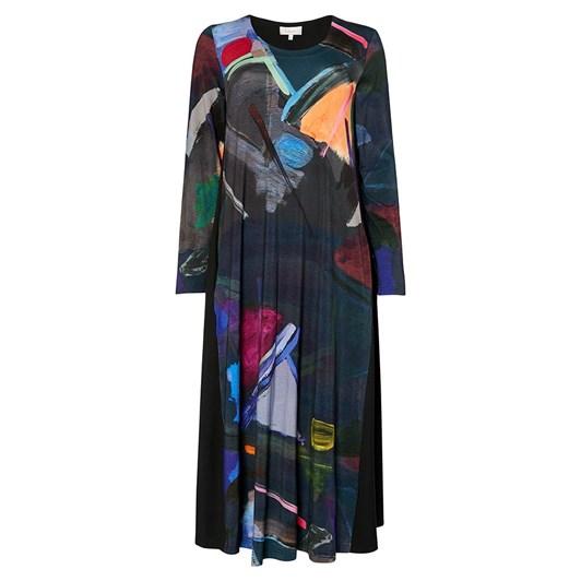 Sahara London Paintbox Print Jersey Dress