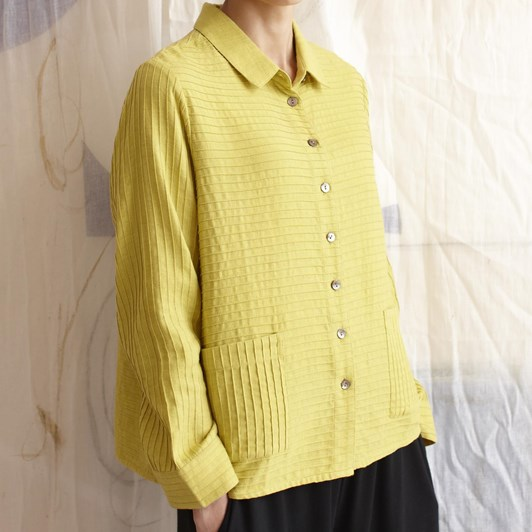 Sahara London Soft Cotton Pintuck Shirt