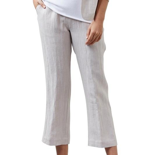 Visage Pixel Linen Cropped Pant