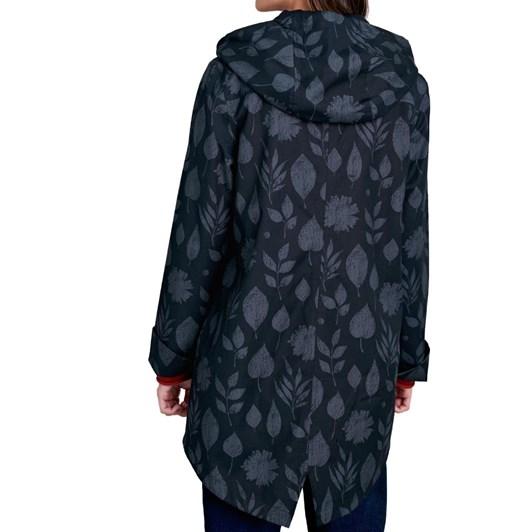 Seasalt Bowsprit Jacket Pressed Leaves Dark Night