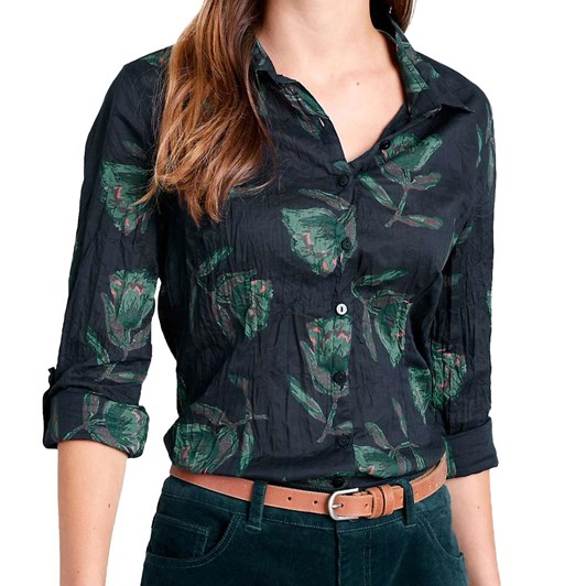 Seasalt Larissa Shirt Textured Tulip Dark Night