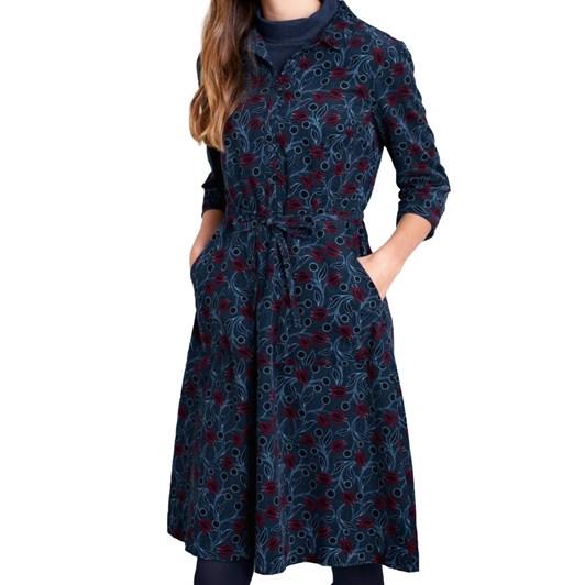 Seasalt Clove Hitch Dress Hammered Floral Dark Night