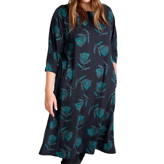 Seasalt Chapel Cliff Dress Textured Tulip Dark Night