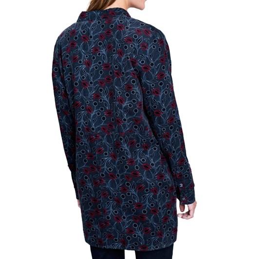 Seasalt Emma Shirt Hammered Floral Dark Night
