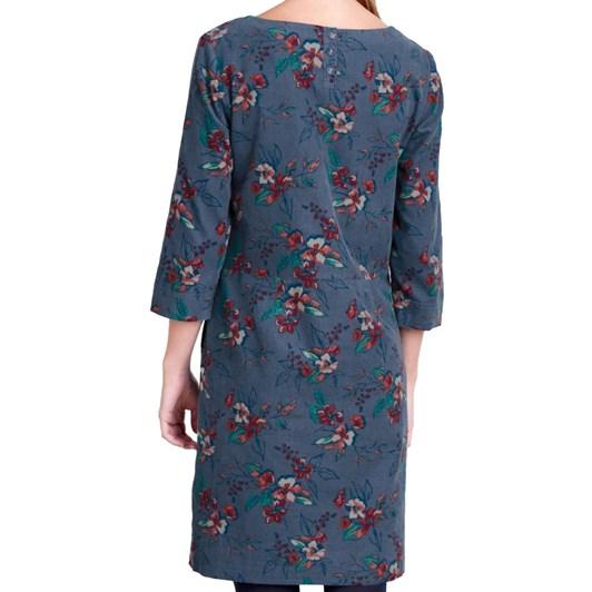 Seasalt High Key Dress Newlyn Flowers Monty Blue
