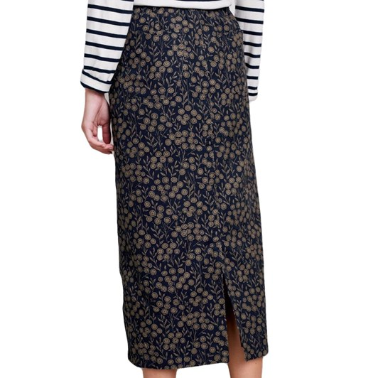 Seasalt Inscription Skirt Tansies Dark Night