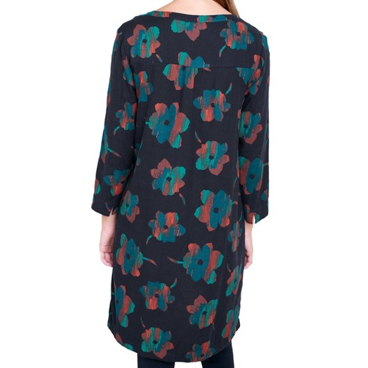 Seasalt Film Review Dress Patina Flower Dark Night