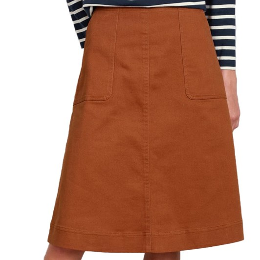 Seasalt Porthledden Cove Skirt Chestnut
