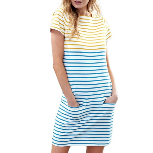 Joules Francis Square Neck Jersey Dress