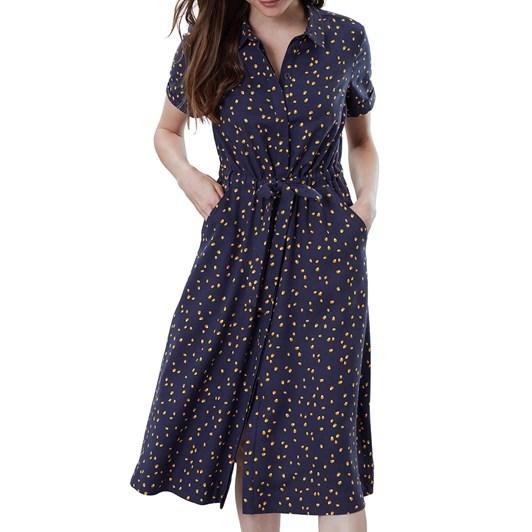 Joules Winslet Print Button Front Shirt Dress