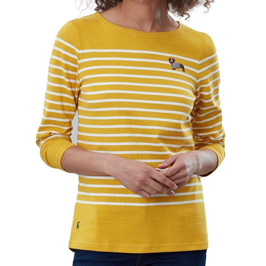 Joules Harbour Emb Long Sleeve Embroided Jersey Top