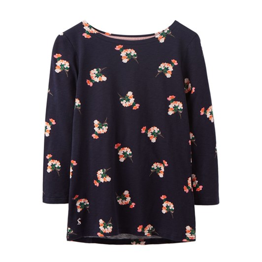 Joules Harbour Light Printed Full Length Sleeve Jersey Top