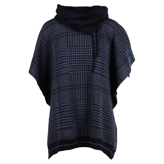 Royal Merino Plaid Poncho