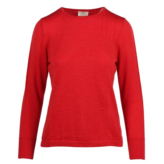 Royal Merino L/S Crew Neck Fine Stripe Jumper