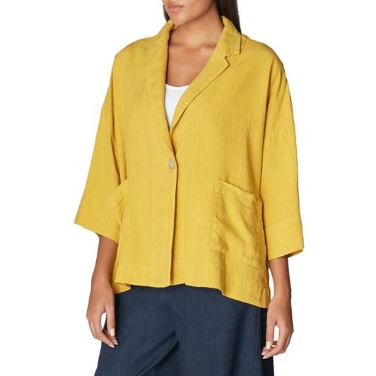 Sahara London Textured Linen Jacket
