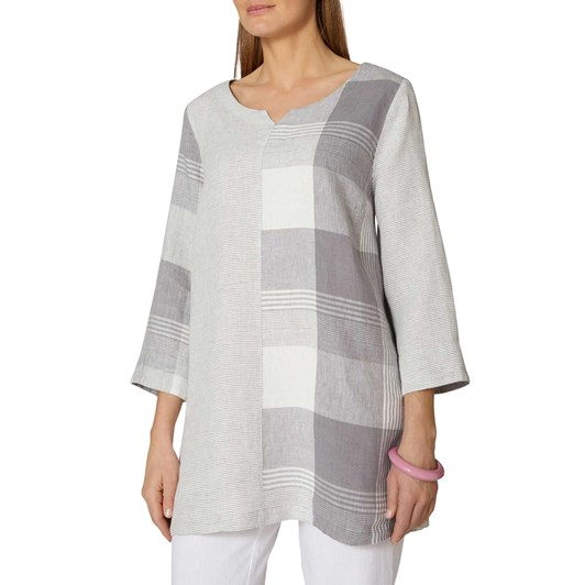 Sahara London Giant Check Patched Tunic