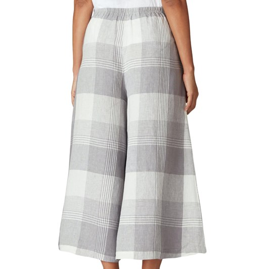 Sahara London Giant Check Flare Crop Trouser