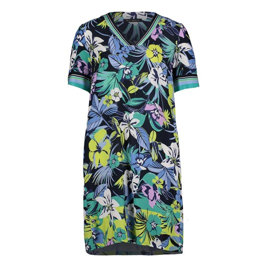 Betty Barclay Tropical Floral Neon Dress
