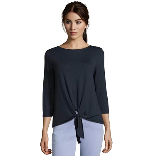 Betty Barclay Tie Top With Scoop Neck
