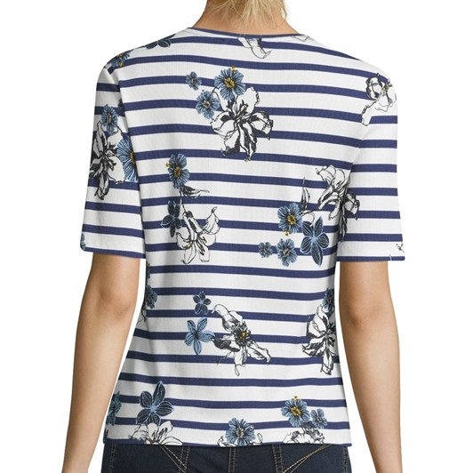 Betty Barclay Striped Floral T-Shirt