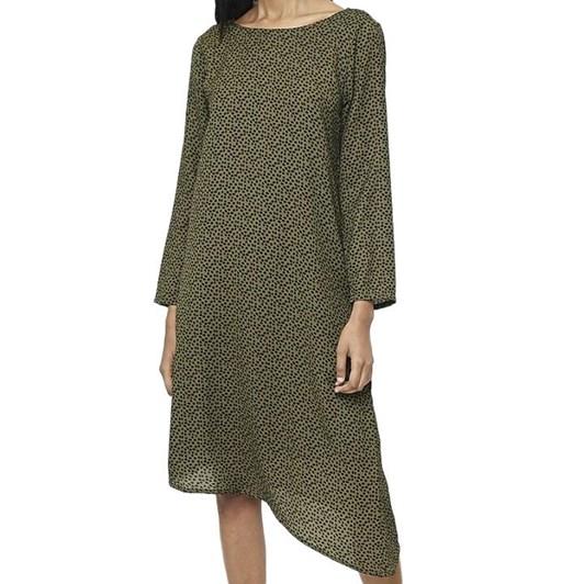 Compania Fantastica Dotted Print Long Sleeve Dress