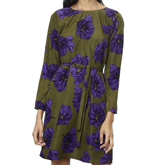 Compania Fantastica Flowers Dress with Waist Sash