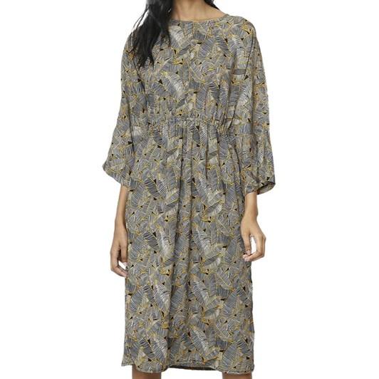 Compania Fantastica Print Dress with Gathered Waist