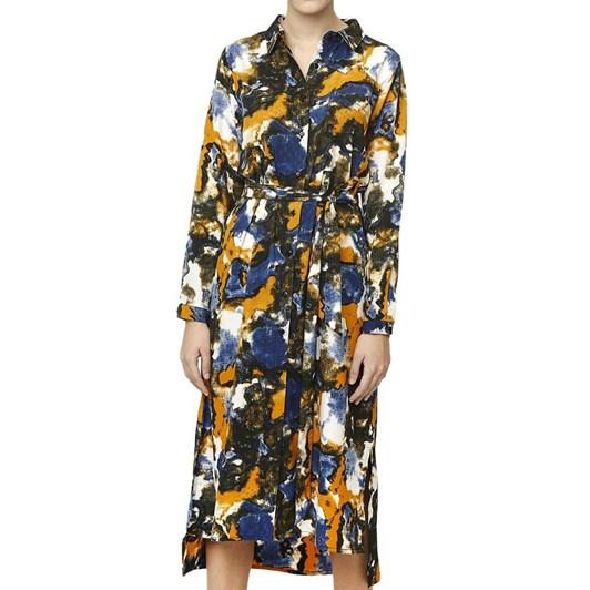 Compania Fantastica Printed Shirt Dress