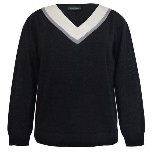 Random Contrast Neck Sweater