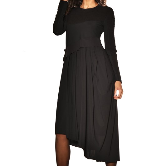 Paula Ryan Soft Skirt Quilted Bodice Dress