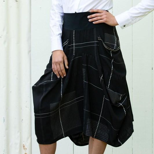 Paula Ryan Check Tulip Skirt
