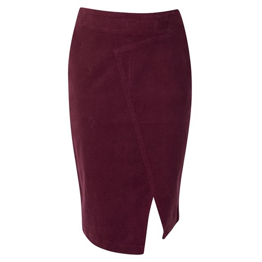 Vassalli Cord Skirt wAngled Panel