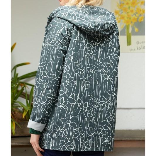 Seasalt The Reversible Raincoat Drawn Daffodils Nickel