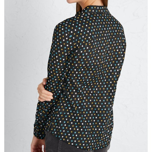 Seasalt Larissa Shirt Polka Dot Onyx