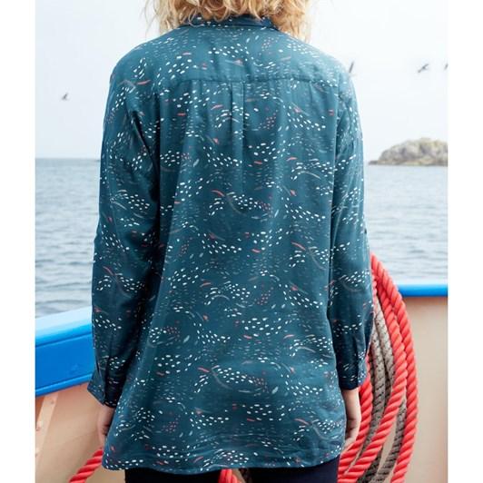 Seasalt Polpeor Shirt Murmuration Marks Storm