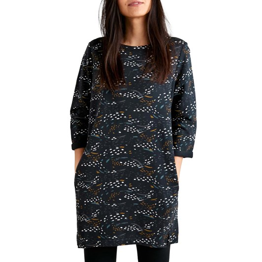 Seasalt Stone Carving Tunic Murmuration Marks Onyx