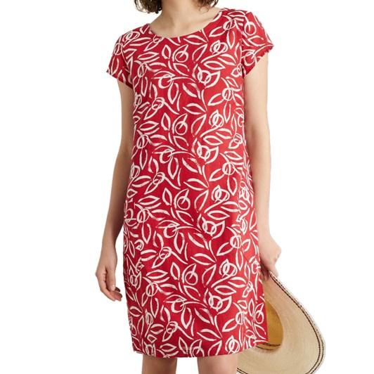 Seasalt River Cove Dress Painterly Leaf Rudder