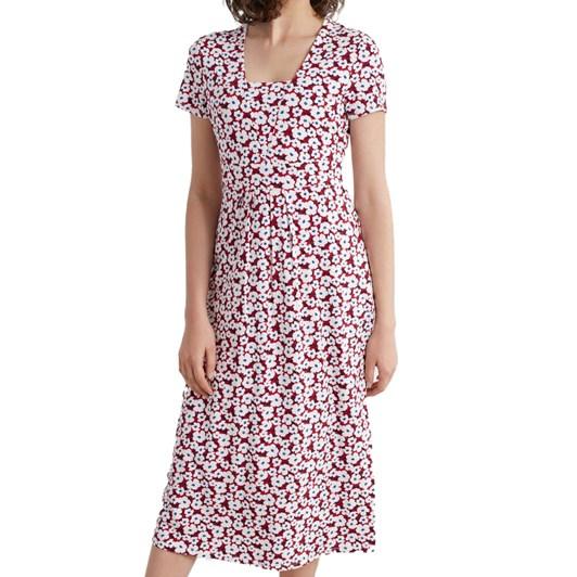 Seasalt S/S Seed Packet Dress Mallow Flower Rudder