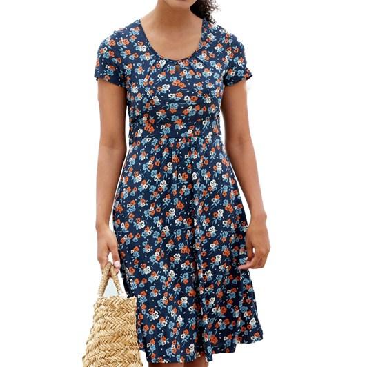 Seasalt Crebawthan Dress Yarrow Flower Harbour