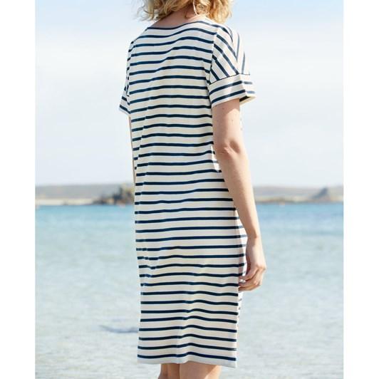 Seasalt Sailor Dress Breton Ecru Harbour