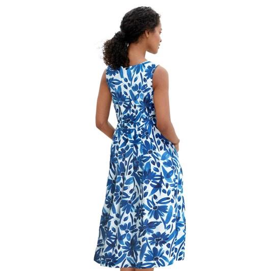 Seasalt Seamstress Dress Watercolour Floral Cargo