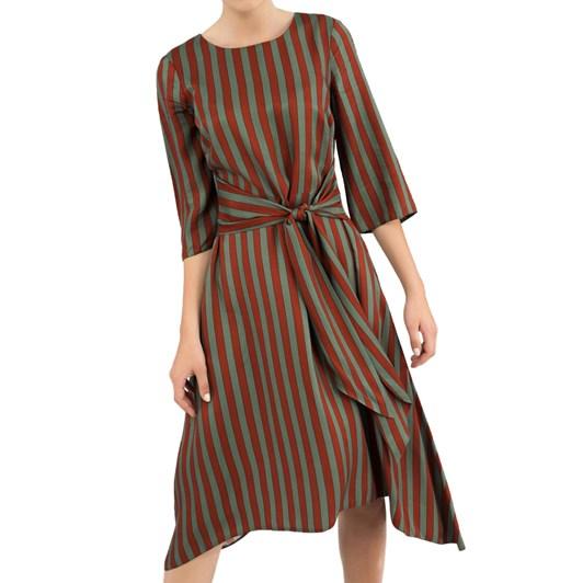 Closet Hanky Hem Dress With Tie