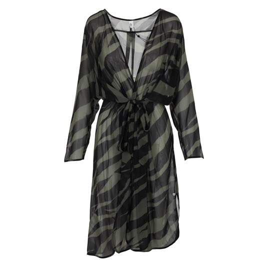 Que Sheer Wrap Dress