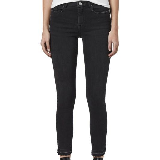 AllSaints Grace Ministud Cropped Mid-Rise Skinny Jeans