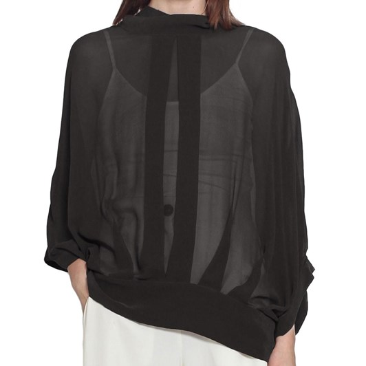 Taylor Sheer Cocoon Jacket